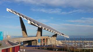 La plaque photovoltaïque de Barcelone