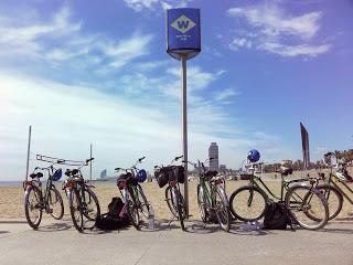 Faire du vélo à barcelone