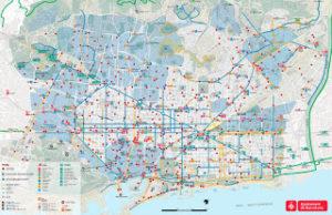 les pistes cyclables de Barcelone