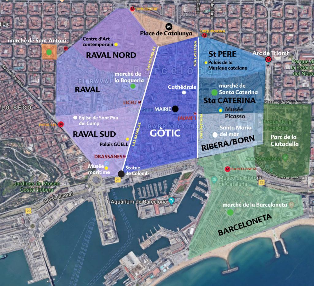 Le centre historique de Barcelone