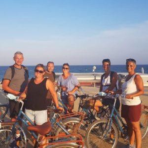 visite à vélo en groupe